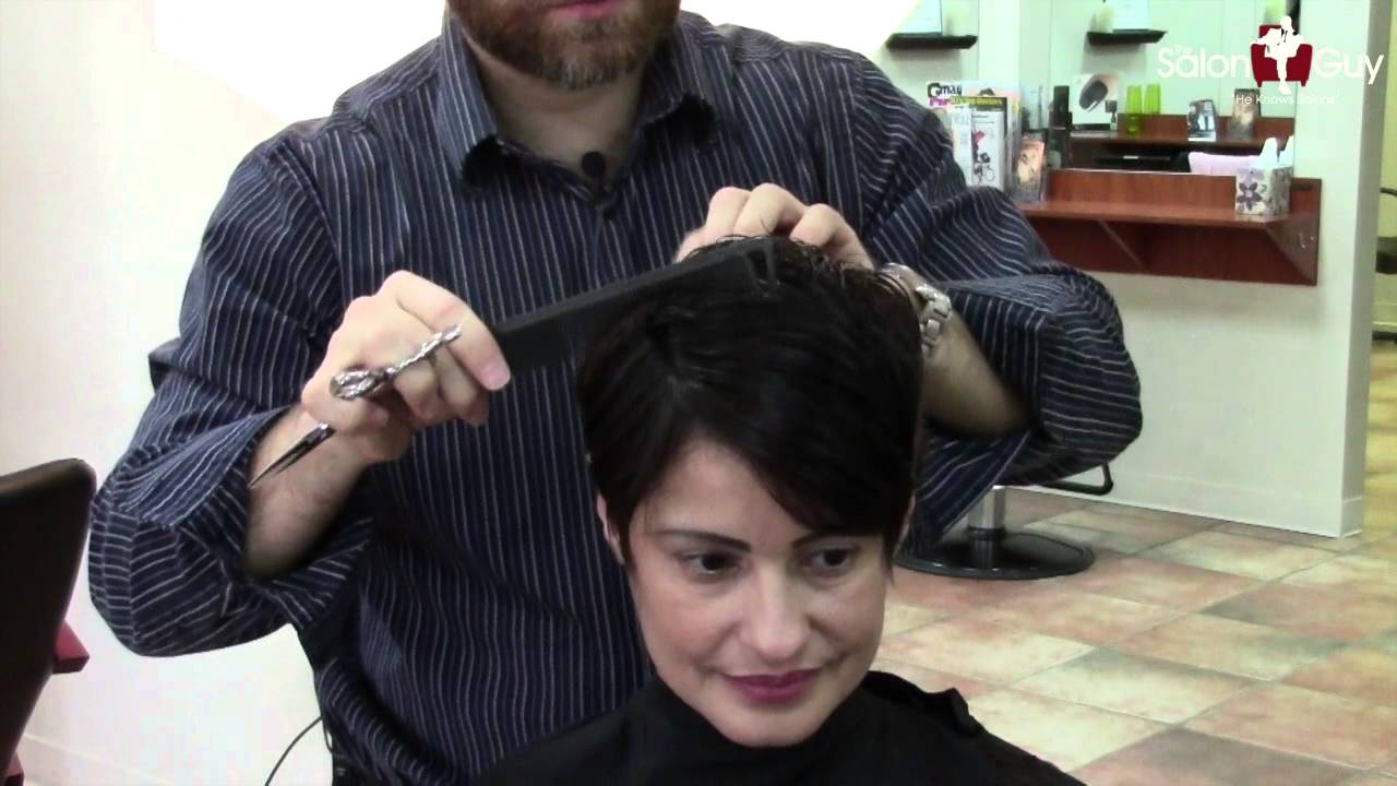 Celebrity Short Haircutting Tutorial Feat Sami Gayle Youtube