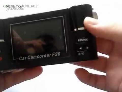 F20 видеорегистратор автомобильный dvr hd тест обзор
