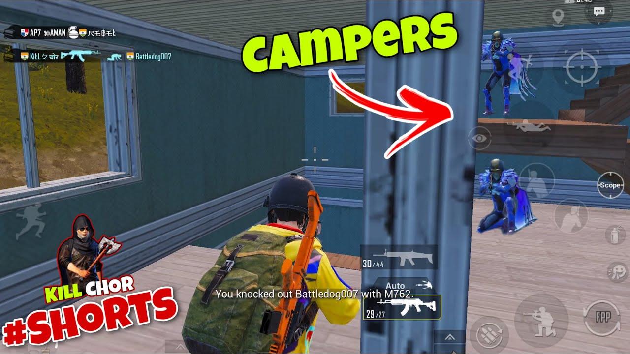 😂 Kill Chor Vs Campers | Pubg Mobile Short Gameplay With Fun - Kill Chor #Shorts