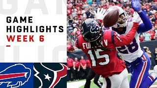 Bills vs. Texans Week 6 Highlights | NFL 2018