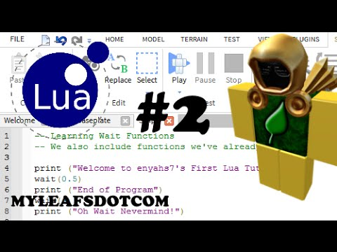Tutorial Roblox How To Use The Wait Function In Lua Youtube