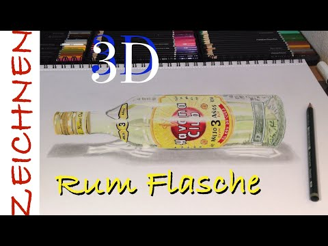 3D Illusion Zeichnen lernen für Anfänger - how to draw 3d bottle Rum from YouTube · Duration:  2 minutes 59 seconds