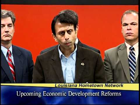Governor Jindal Announces Reforms To  Increase Louisiana's Economic Competitiveness