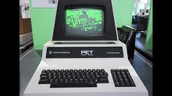 Vintage-valtakunta theme on Commodore PET (1977)