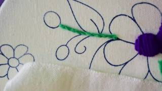 4 como hacer punto cordn en bordado mexicano principiantes