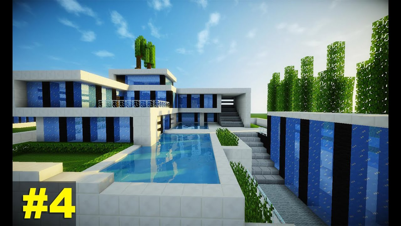 Minecraft tutorial casa super moderna parte 4 youtube for Casa moderna minecraft 0 10 4