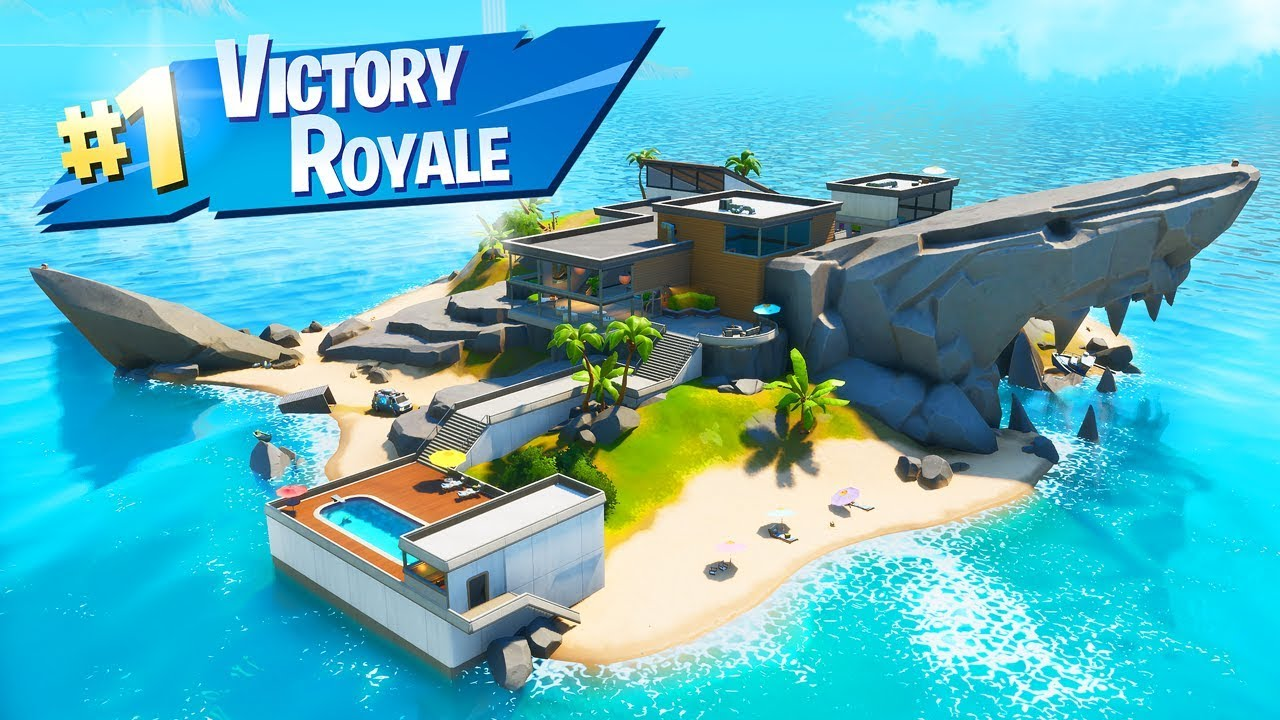 Fortnite But Staying on The Shark Island All Game 🦈