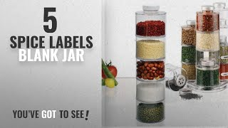 Top 10 Spice Labels Blank Jar [2018]: CONNECTWIDE® 6 self-stacking spice bottles create highly
