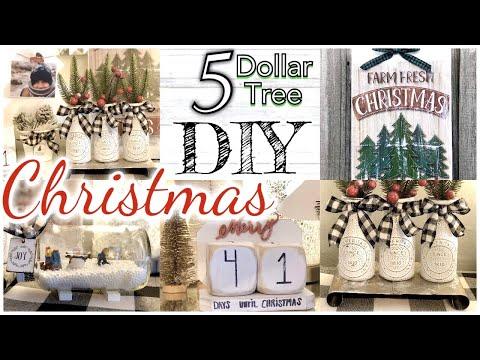 CHRISTMAS DOLLAR TREE FARMHOUSE DIY DECOR/ RUSTIC FARMHOUSE CHRISTMAS TREND 2019 diy DOLLAR STORE