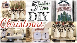 CHRISTMAS DOLLAR TREE FARMHOUSE DIY DECOR/ RUSTIC FARMHOUSE CHRISTMAS TREND 2019 diy DOLLAR STORE