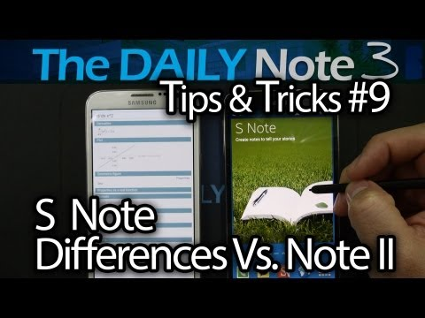 Samsung Galaxy Note 3 Tips & Tricks Episode 9: S Note Improvements and Differences vs Note 2 S Note