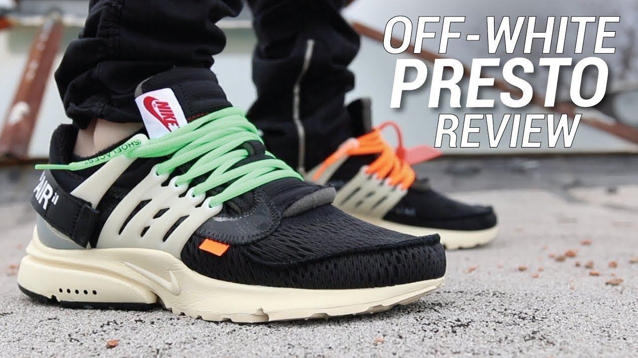 "fa3337d1c059 Nike Air Presto Off white ""GodKiller"" review - YouTube"