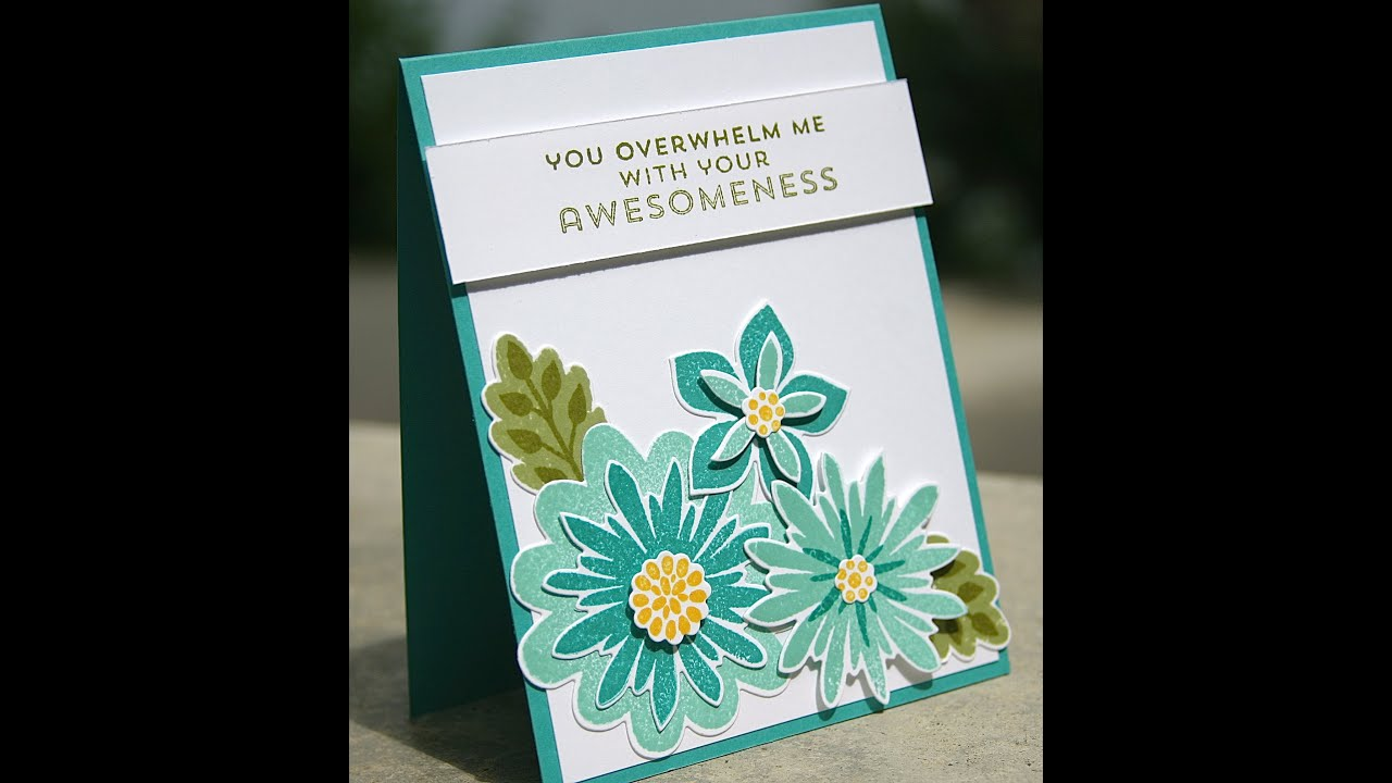 Stampin up thank you card using flower patch youtube thecheapjerseys Gallery