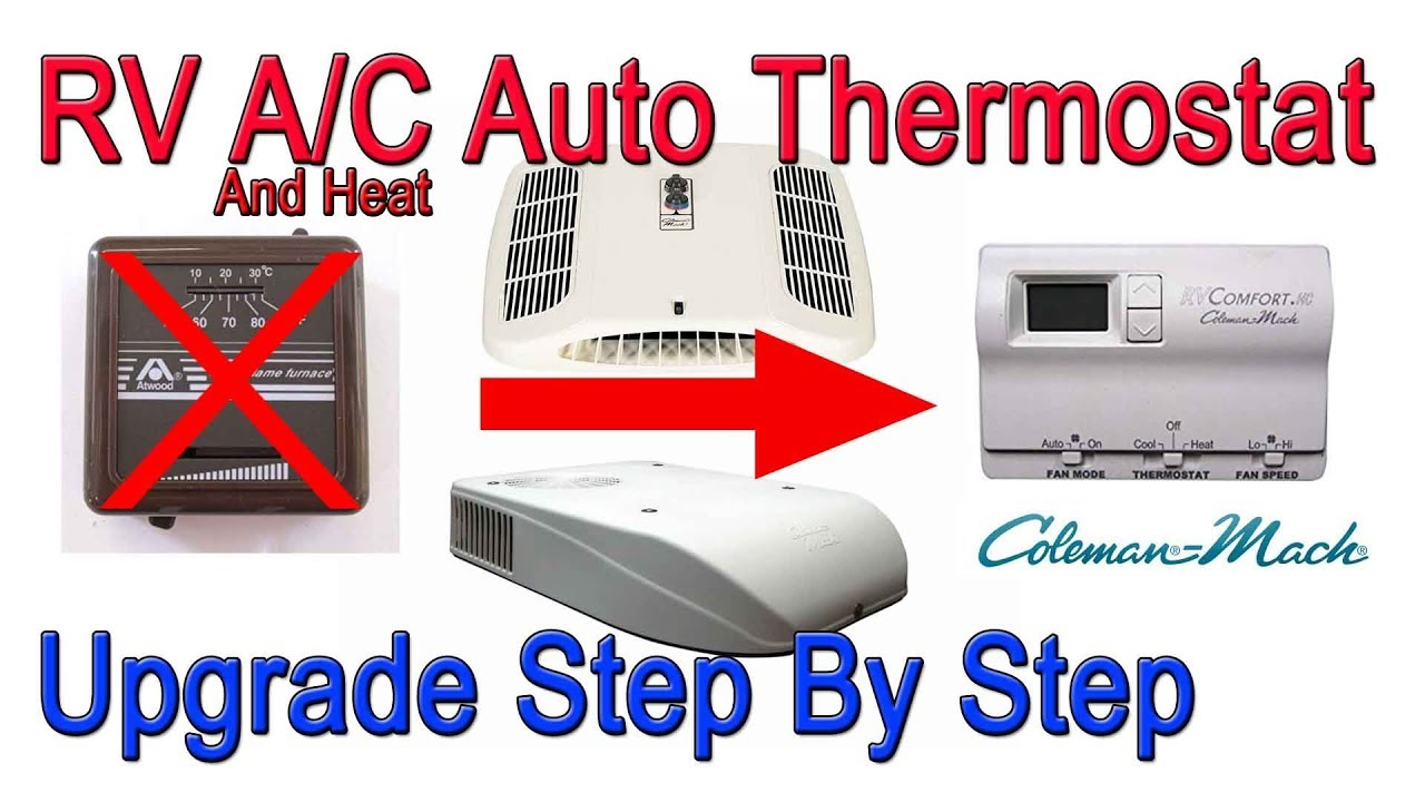 Coleman Mach 8 A C And Heat Manual To Automatic Thermostat Control Upgrade Youtube