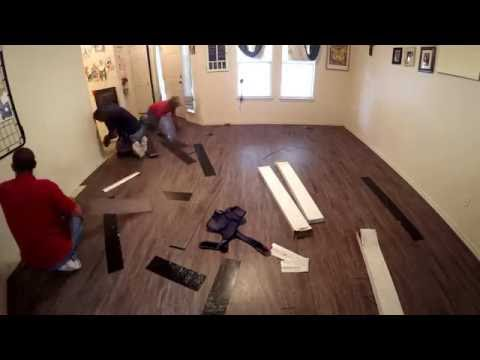 Carpet Removal / LVT Installation Project