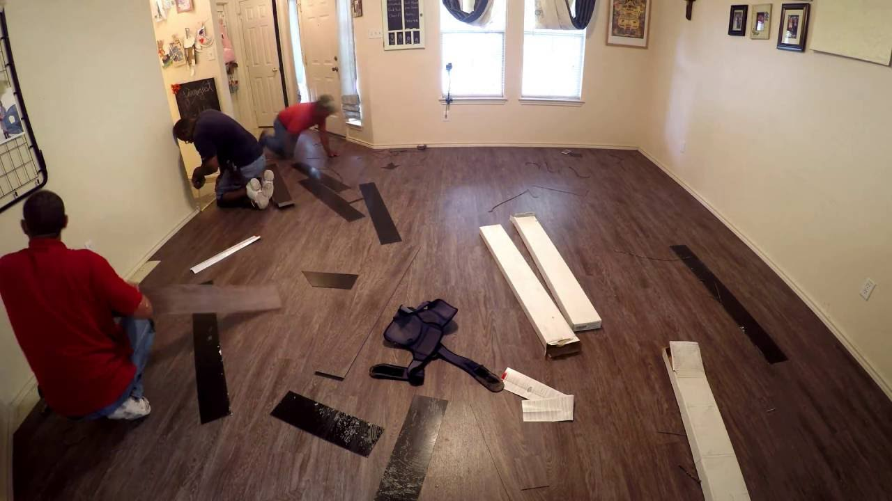Carpet Removal / LVT Installation Project - YouTube