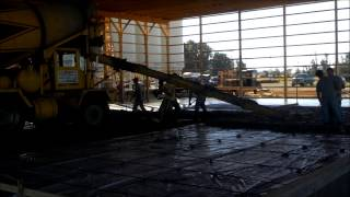 R And R Cumper Concrete Pouring The Big Slab And Loading Dock.