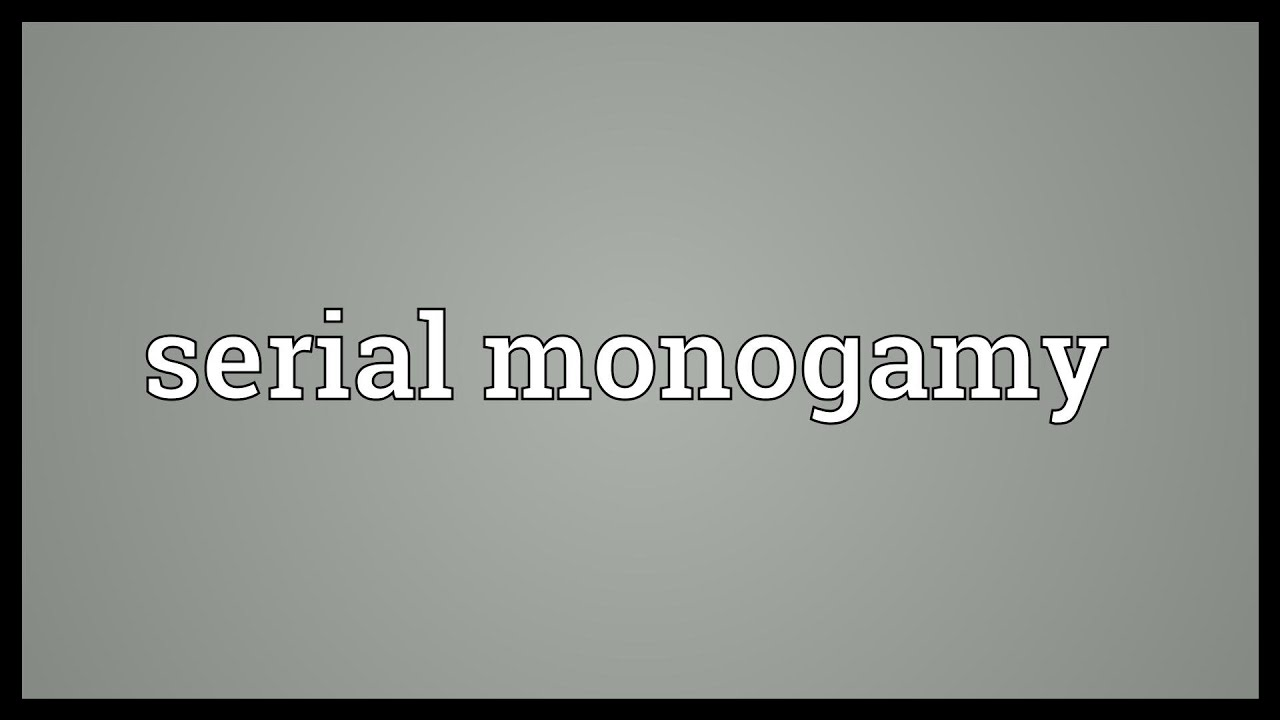 What is meant by serial monogamy