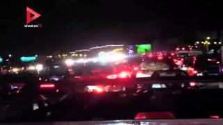 ازدحام مروري علي طريق بورتو مارينا بسبب حفلة عمرو دياب