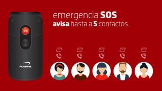 Pulsare 361 teléfono celular para adultos mayores con botón de pánico