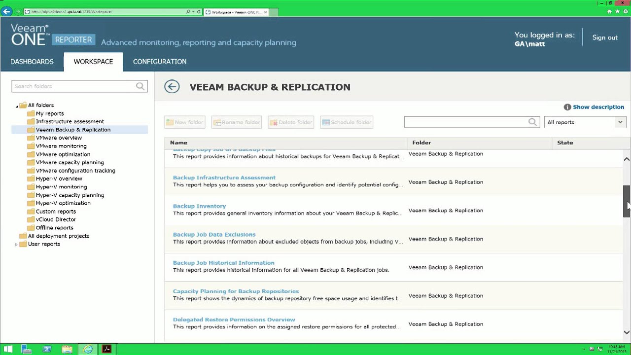 Veeam Availability Suite - Tracking for Backup and vSphere