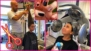 Kuaför Vlog - Saç Kesimi ve Tırnak Bakımı Yaptırıyorum-Eğlenceli Video