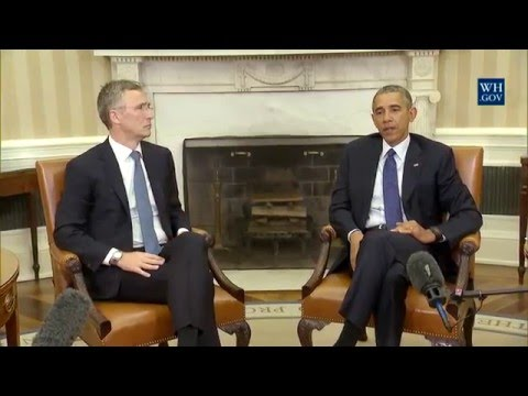 President Obama holds a bilateral meeting with NATO Secretary-General Stoltenberg