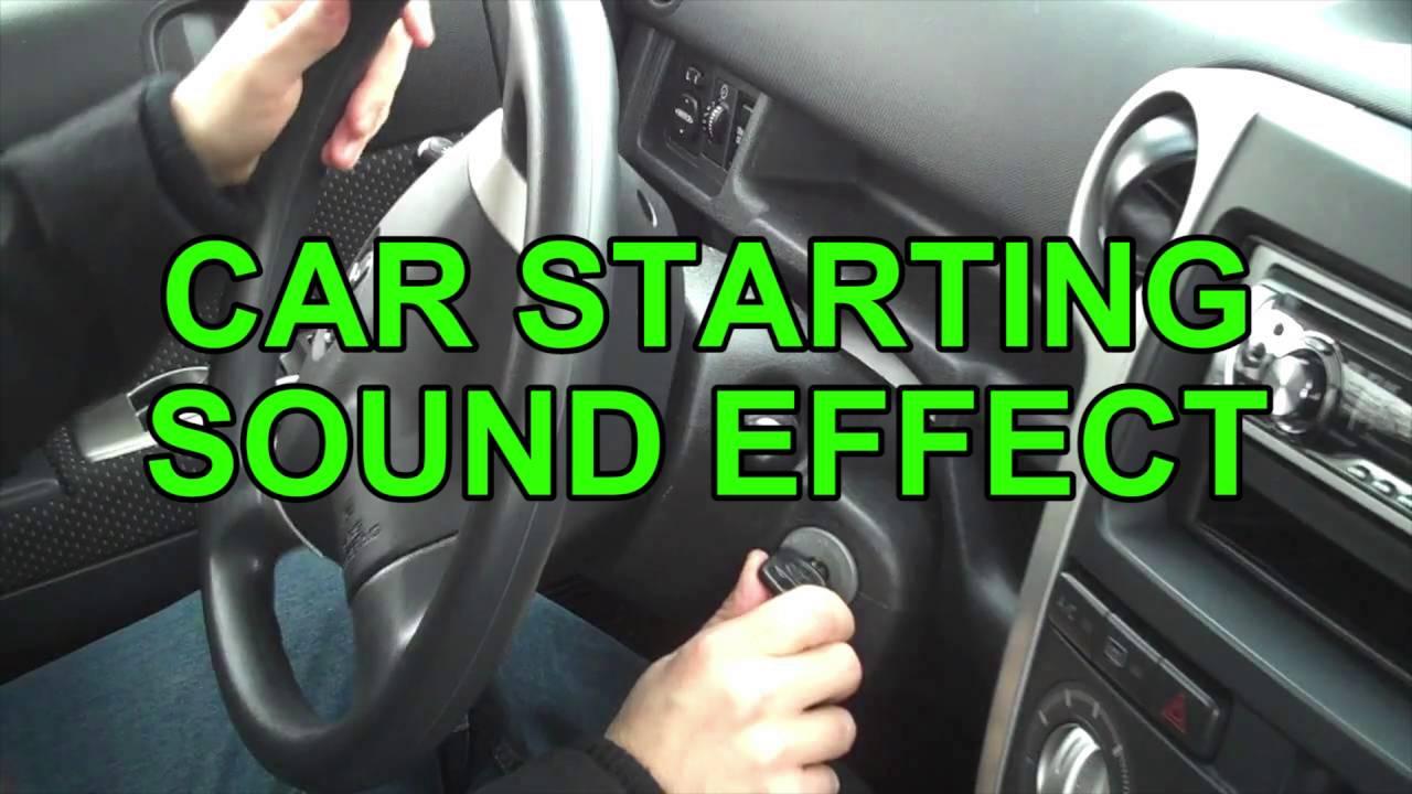 Car starting sound effect