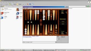 Windows XP Internet Backgammon Gameplay (Recorded April 08 2017)