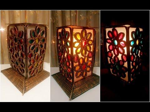 How To Make Newspaper LampShade | DIY