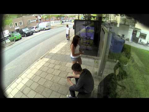 Adobe Creative Day 'Street Retouch Prank' at the Bus Stop by Erik ...