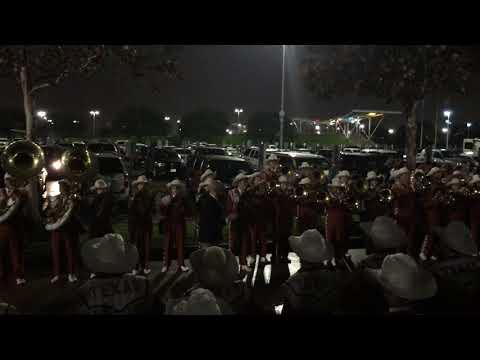 Texas Longhorn Band Football Team Enters NRG Stadium Houston Dec 27, 2017 Texas Bowl UT Vs. Missouri