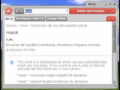 diccionario significado de nopal