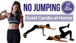 15 min NO JUMPING Full Body Fat Burning Workout | QUIET CARDIO HIIT