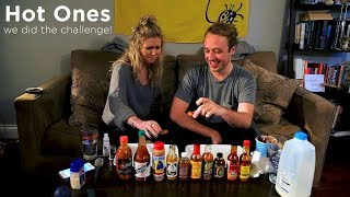 We Did the Hot Ones Hot Sauce Challenge!