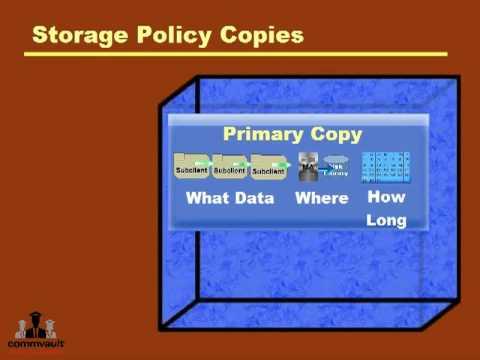 CommVault Storage Policies Overview