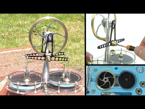 Assembling a Stirling Engine Kit - The engine that can be powered by a set-top box