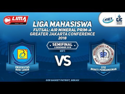 "UBL VS STIE BP SEMIFINAL MEN""S LIMA FUTSAL : AIR PRIM-A GREATER JAKARTA CONFERENCE 2018"
