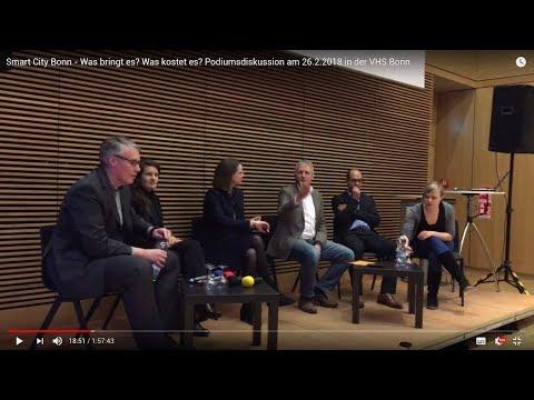 Smart City Bonn - Was bringt es? Was kostet es? Podiumsdiskussion am 26.2.2018 in der VHS Bonn