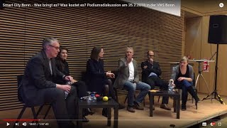 Smart City Bonn - Was bringt es? Was kostet es? Podiumsdiskussion am 26.2.2018 in der VHS Bonn
