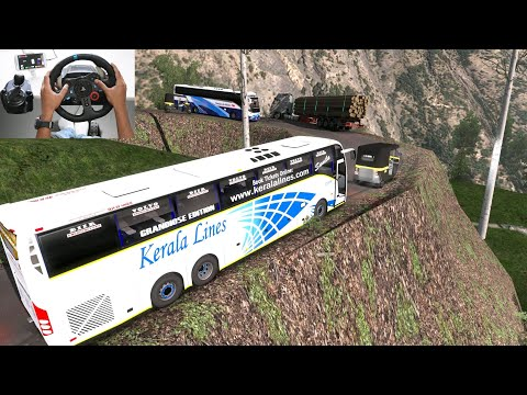 Drivers Judgement Failed on Dangerous Road | Euro truck simulator 2 with bus mod