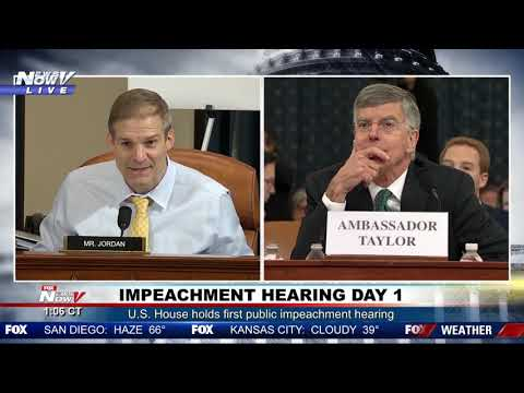 """IT DIDN'T HAPPEN"": Jim Jordan GOES OFF on William Taylor during impeachment hearing"