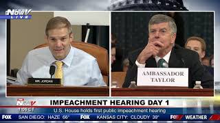 """""""IT DIDN'T HAPPEN"""": Jim Jordan GOES OFF on William Taylor during impeachment hearing"""