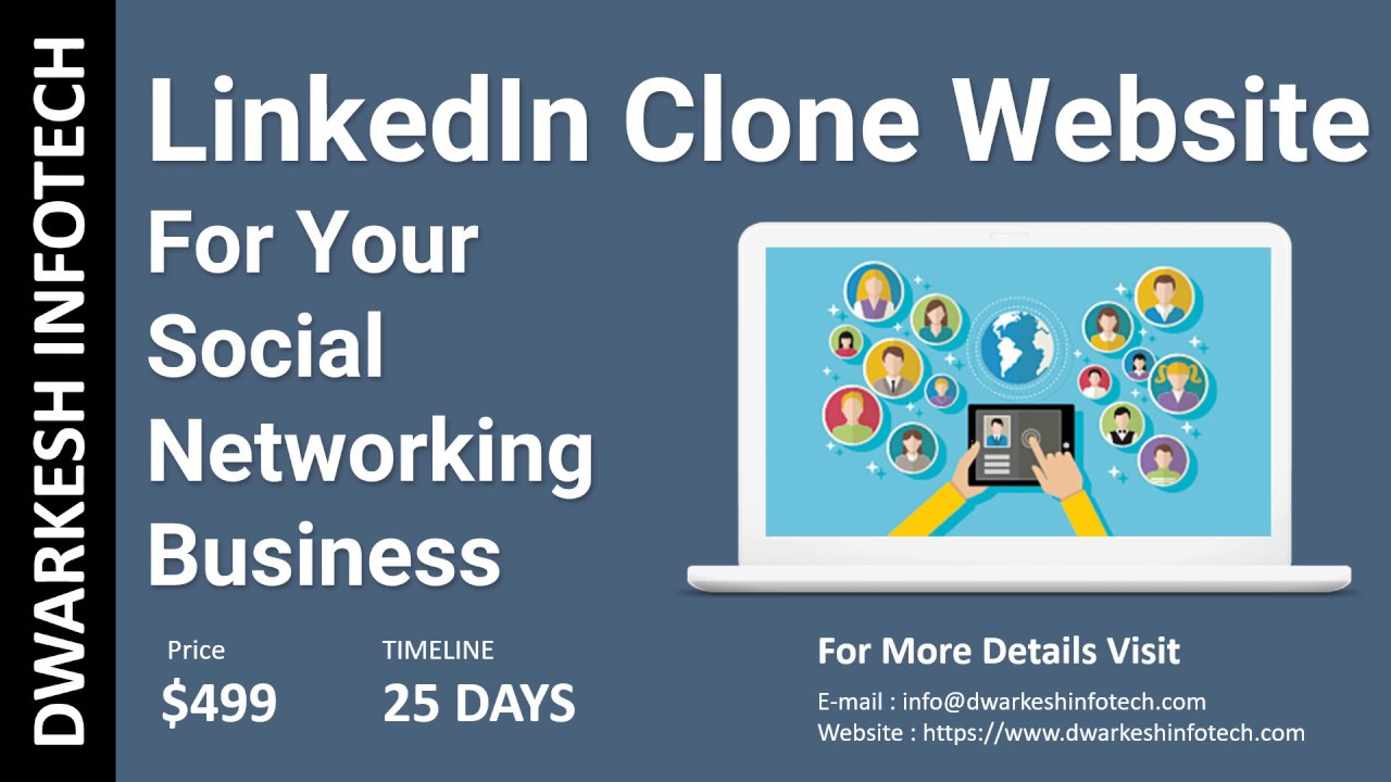 LinkedIn Clone website - a Social Network Business | Create your own social networking sites in 2018