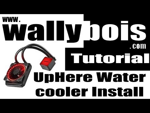 How To Install, Uphere CPU water cooler installation on Ryzen CPU 2017
