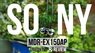 Sony MDR-EX150AP earphone unboxing amp review Sound Test Price