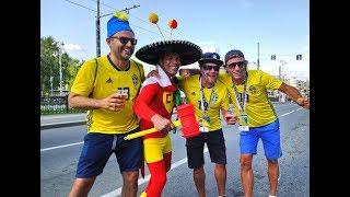 Шведы и мексиканцы - вакханалия после матча