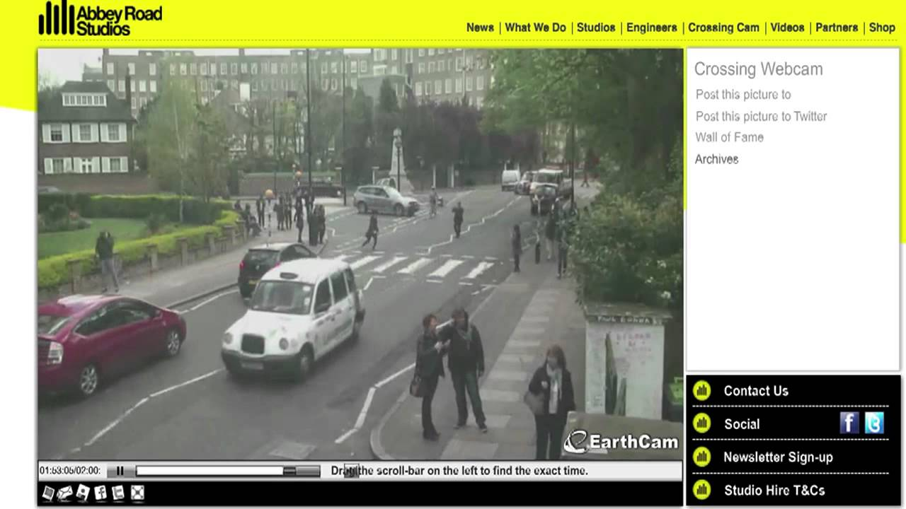 dj at abbey road crossing cam youtube