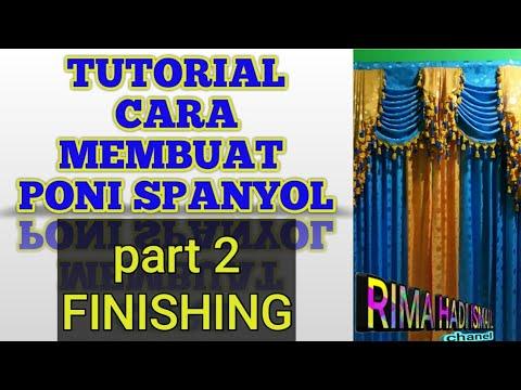 Tutorial cara membuat poni spanyol part2 finishing