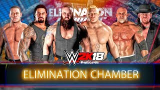 WWE 2K18 Elimination Chamber Match feat. NEW ELIMINATION CHAMBER POD SPEAR & More | WWE 2K18